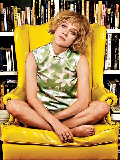 Chloe Sevigny and her books via New York Mag
