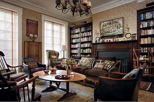 "Woody Allen's library...Somehow, I expected it to scream ""NEUROTIC""image via Flavorwire"