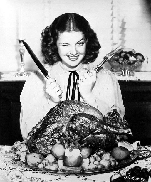 thanksgiving vintage ann sheridan turkey