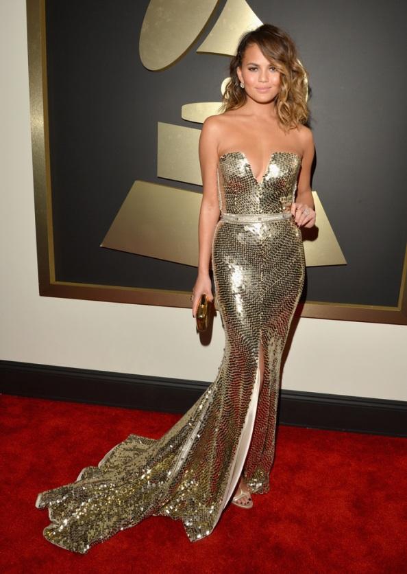 Chrissy-Teigen-Grammy-2014