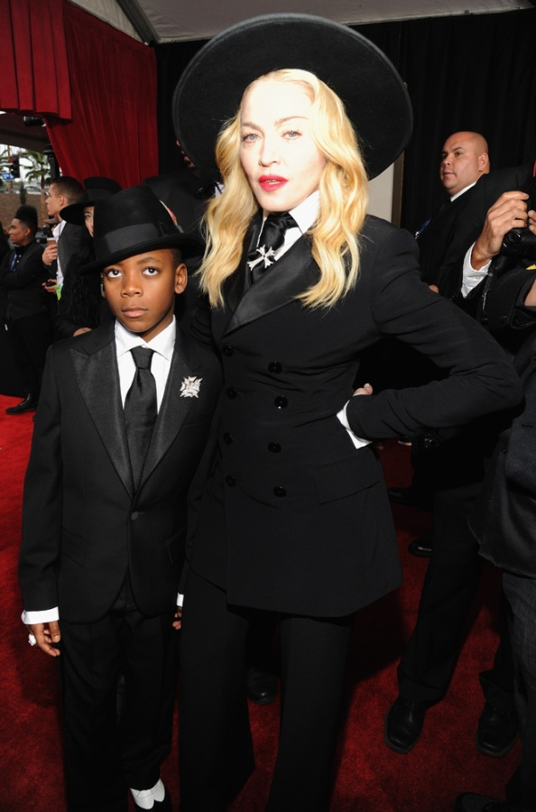 Madonna-son-David-Ralph-Lauren-Grammy-2014