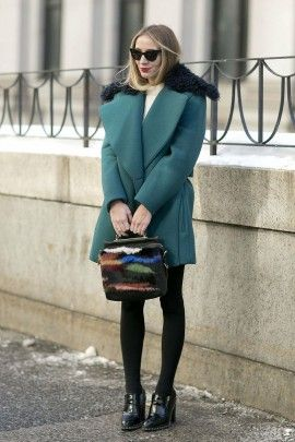 Loving the color of this coat!